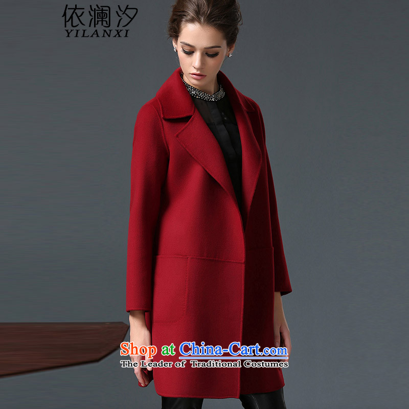 In accordance with the world gross coats girl about Hsichih OL temperament of winter clothing for larger women's gross female Korean jacket? wool a wool coat Authorizations, PT 8S RAISED wine red 2XL