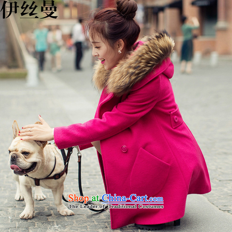 El Wire Cayman 2015 winter new products in Korean long coats NRJ8868 gross? The Red L