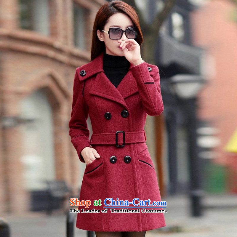 Yi Jin Mao is of Sau San over the medium to longer term, a wool coat GD6916 wine red M
