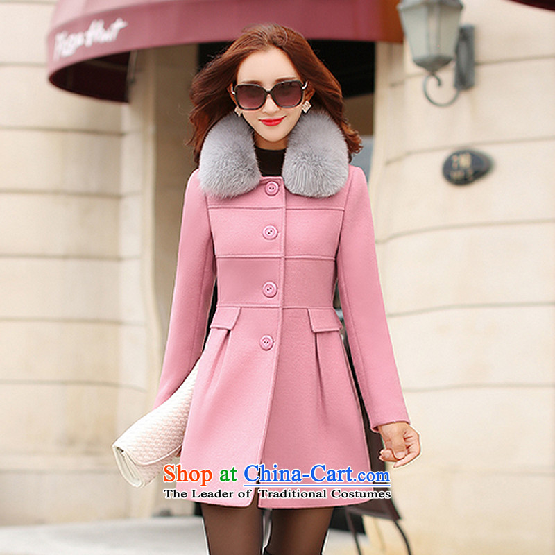 Yi Jin Korean products Sau San for gross? coats pink FF5045 M