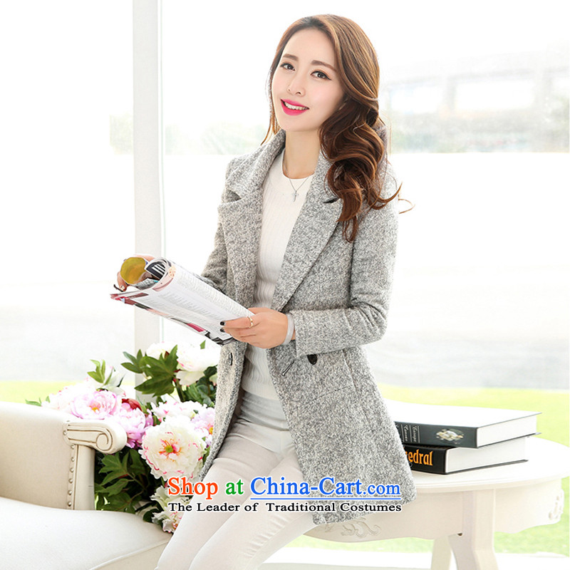 8Po Sau San thick hair so temperament coats light gray聽XL