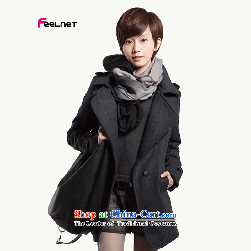 Increase extra female feelnet add obesity sister thick mm Fall_Winter Collections new cotton wool coat 105. GRAY�L-48? code