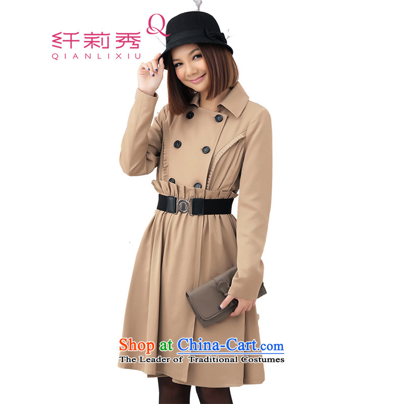 燭he former Yugoslavia Li Sau-�14qianlixiu spring loaded new product code women organ in the folds, double-encapsulated long-sleeved jacket Q2633 card its燣