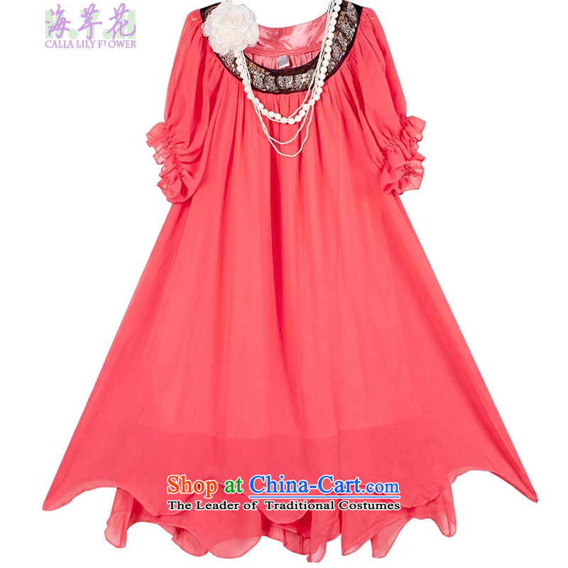 The sea route to spend the new large skirt chiffon dresses 149-3G�L Western Red