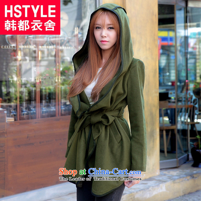 Korea has the Korean version of the Dag Hammarskjöld yi 2015 winter clothing new women tether Sau San with cap gross DT3002 jacket? Army Green Woods National M