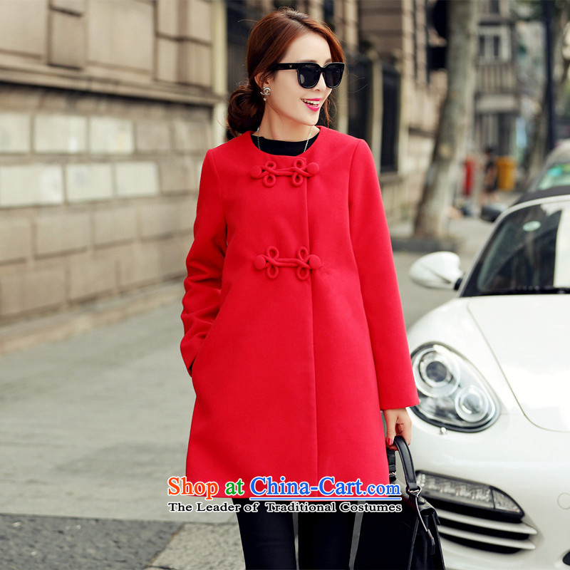 2015 WINTER again for developing new gross jacket female Korean version of this stylish mahogany and loose larger gross? In coats long爎ed XXL_125-145 1663 catties_