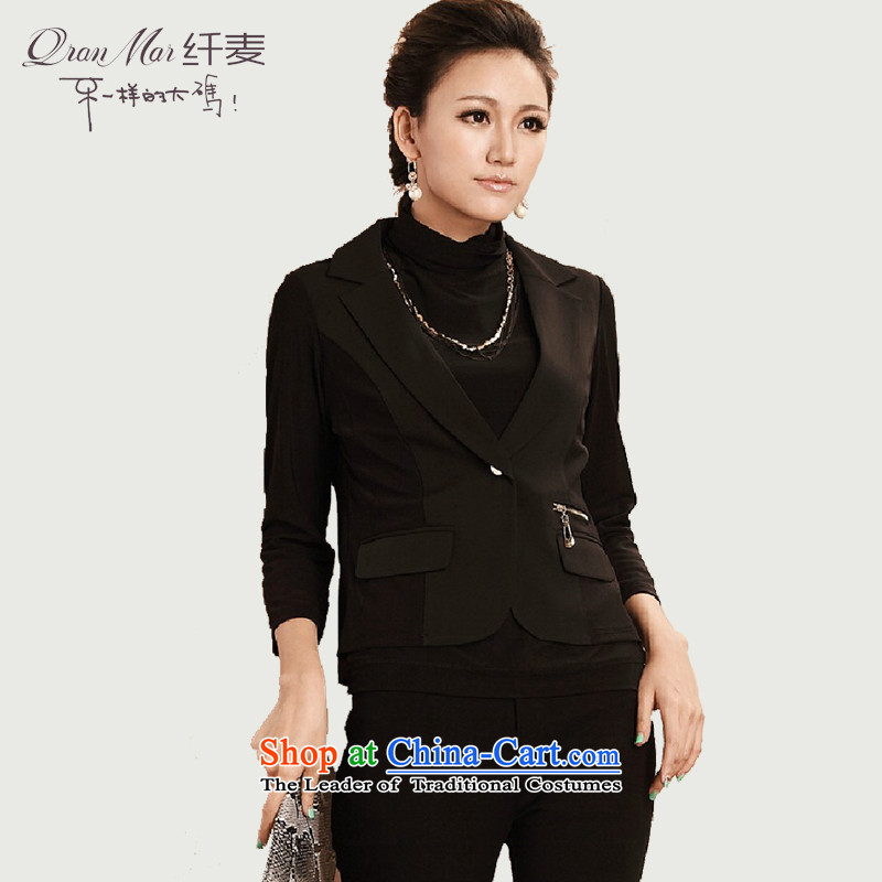 The former Yugoslavia Migdal Code women2015 Autumn replacing new single row detained cardigan suit small leisure suit 2261 BlackM