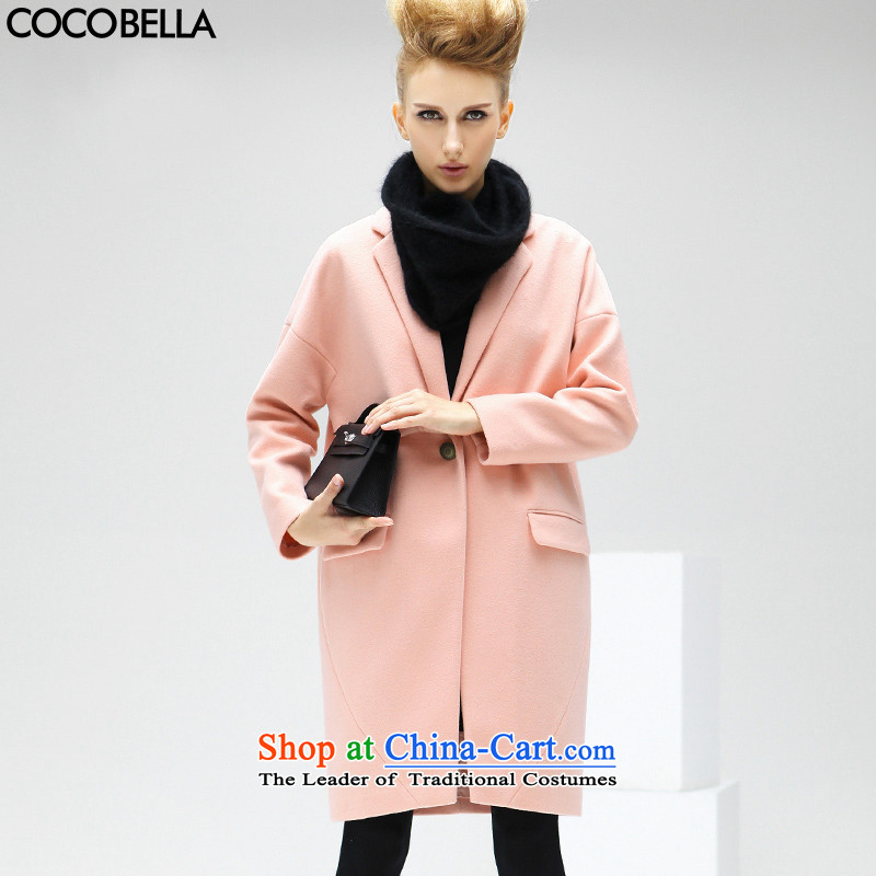 Cocobella 2015 autumn and winter the new Europe and the auricle of the OVERSIZE-girl van coats jacket female CT75 gross? orange tonerS