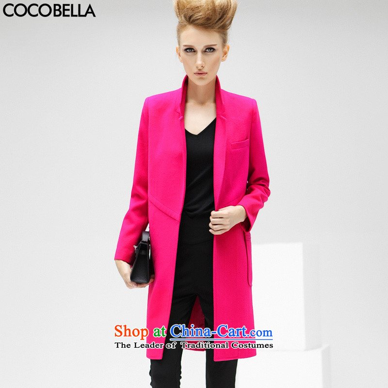 Cocobella 2015 autumn and winter new Western-bum stitching long graphics thin lapel gross? jacket female CT86 RED燬