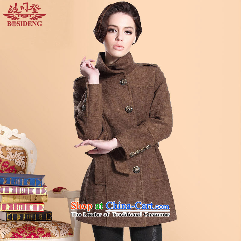 Bosideng autumn and winter female new products long woolen coat Sau San lap gross?聽58_ polycoated and color jacket female聽Xl_170_92a