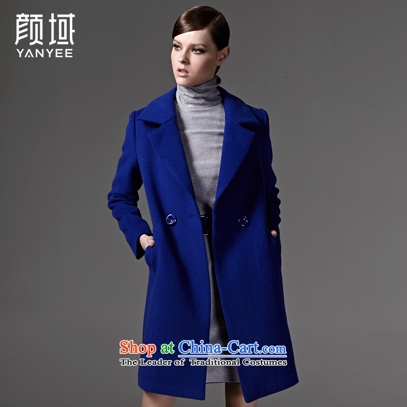 Mr NGAN domain autumn and winter_? a wool coat handsome long wool overcoats 04W3343?  L_40 blue