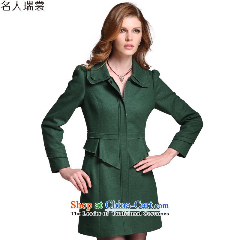 Celebrity Rui Advisory 2015 Winter New Sau San xl female hair? coats female greenXXL