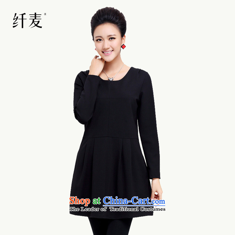The former Yugoslavia Mak female new product lines for autumn and winter by replacing larger dresses wild explosion of Sau San black XXXXL 13 9 10
