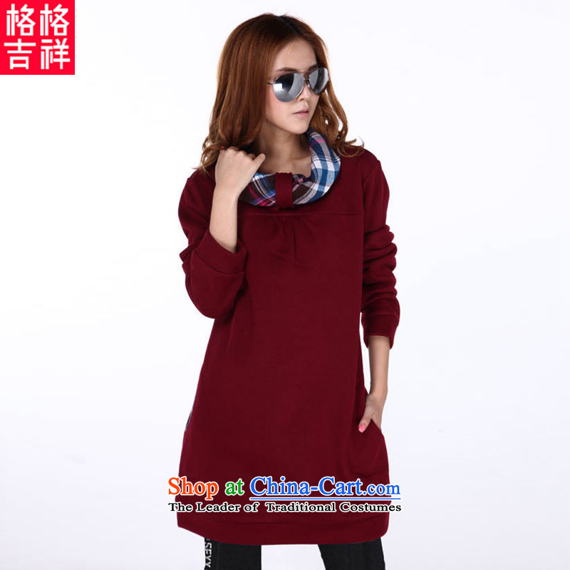 The interpolator auspicious xl women 2015 Fall/Winter Collections new Korean relaxd lounge in the long load lint-free sweater thick MM video thin red 3XL F648 Sau San Jacket