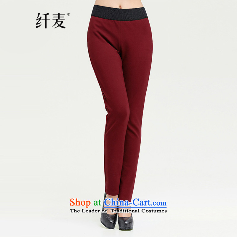 The former Yugoslavia Migdal Code women?2015 autumn and winter new stylish mm thick quality color graphics thin trousers net English thoroughbred?XXXL 13882