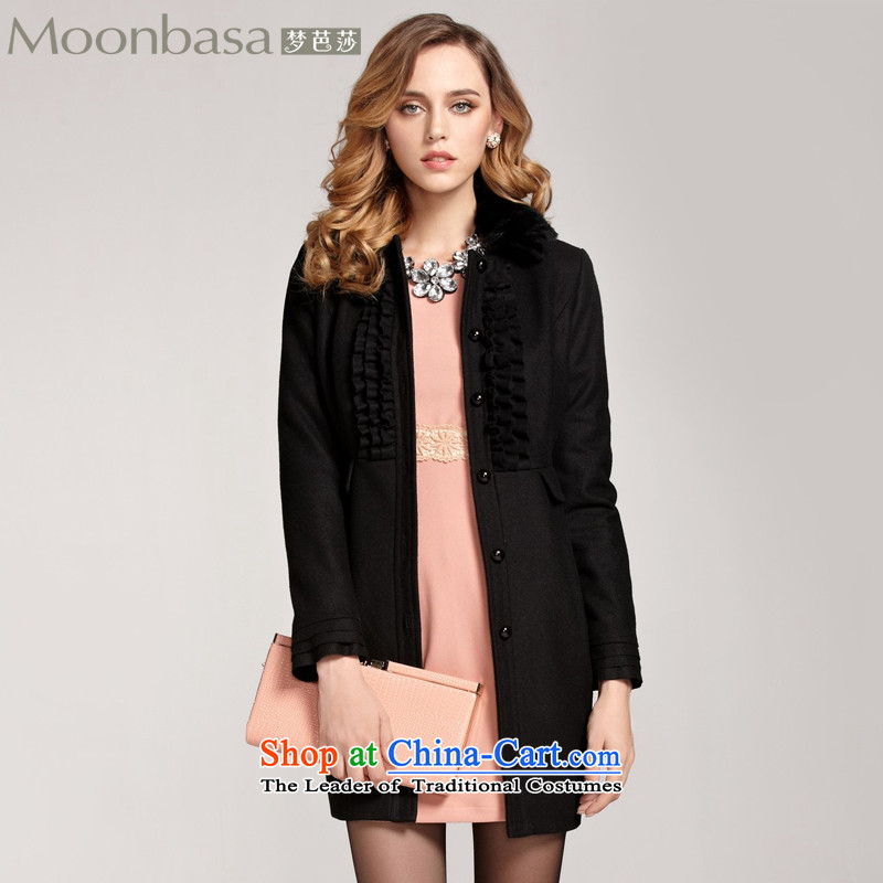 Elizabeth at Pattaya dream elegance fungus edge wool coat? _distribution_�0913302 rabbit hair燽lack燬