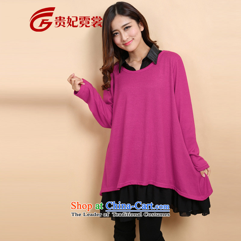Gwi Tysan thick mm autumn replacing dresses new extra female two kits long-sleeved loose to xl woolen knitted sweaters dresses in 2205 Red3XL weight 180-200 catty