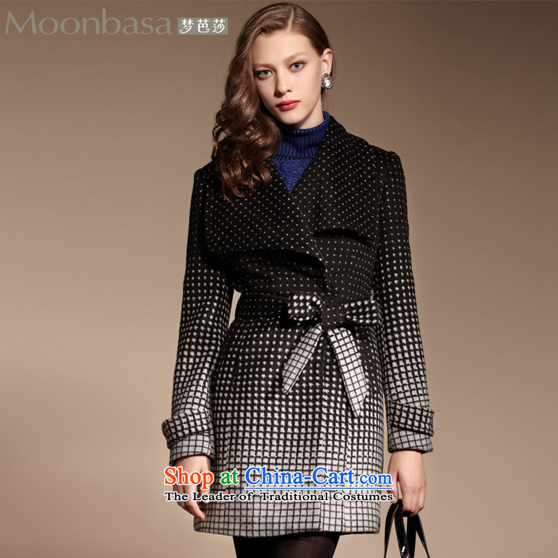 Mona Lisa and elegant career dream girl pack Advanced Custom Wave point plaid gradient positioning A swing? coats spend 460913424 black?S