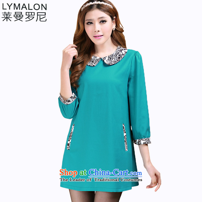 The lymalon lehmann thick, Hin thin 2015 autumn the new Korean trendy fashionable dress code of 7 to the wild cuff dresses 3104 picture color XXL