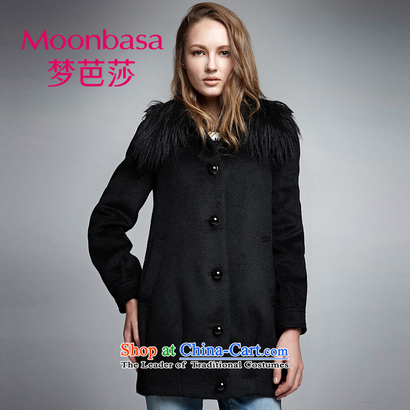 Elizabeth hip and trendy dream girl with luxurious stylish along? in the material long coats _distribution can be shirked gross_ 030913438 Black燲L
