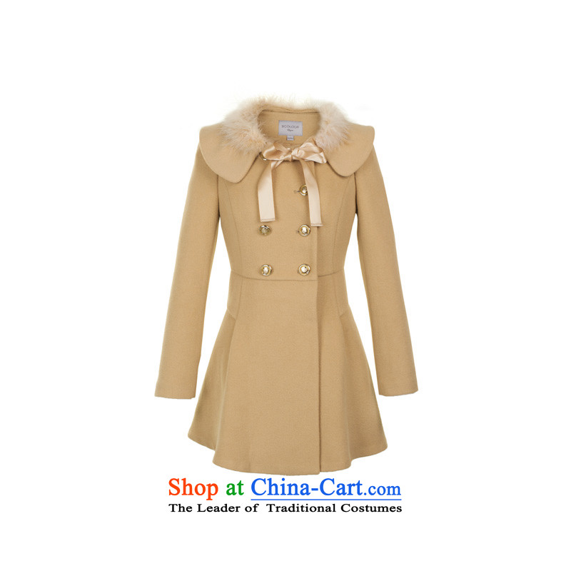 Value 3 Multimedia 2014 new winter clothing removable luxury for Sau San video thin hair A field with gross? coats Yi Girls support C.O.D. holiday shipping light coffee L_165_88a