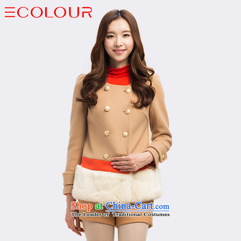 Three new multimedia 2015 Winter Classic double-color plane can be spliced remove swing jacket coat? female gross support C.O.D. holidays light coffee M/160/84a