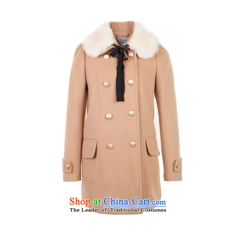 3 color for winter can be removed from the modern and luxurious gross for Classic double row is plush coat female support? C.O.D. holiday shipping coffee Xl/170/92a White