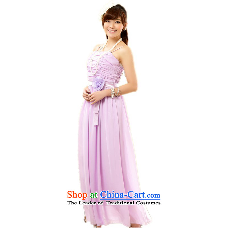 C.o.d. Package Mail xl dresses Sau San long skirt evening dress small large chiffon skirt thick mm video thin sister married bridesmaid skirt skirt purple are code annual 90-115 catty