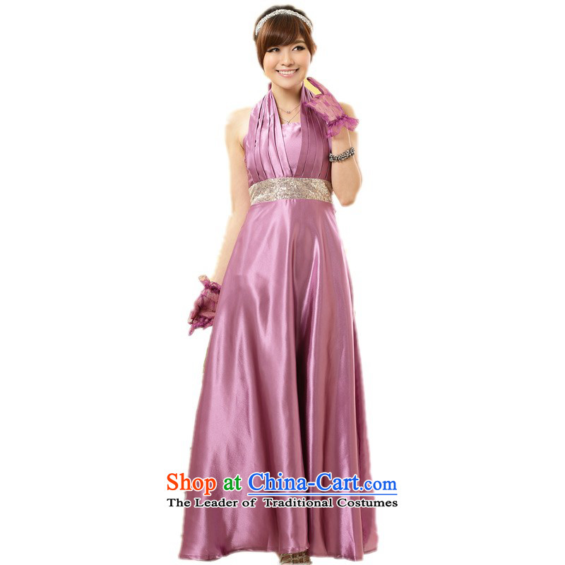 C.o.d. Package Mail xl women's dresses and sexy hang history western back evening dress on small chip Foutune of long skirt thick mm larger wedding dress codes�-115 per capita burden Purple