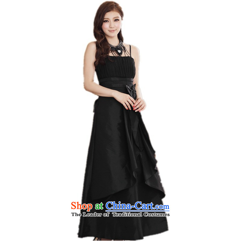 C.o.d. Package Mail xl women's dresses to align the small dress long skirt bow tie strap with Hamor Sau San chest dresses thick mm small black evening dress?145-165 2XL catty