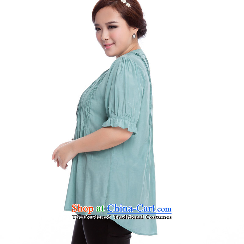 Replace, Hin thick zhuangting ting thin 2015 Summer new product version of large Korean code is smart casual dress short-sleeved T-shirt with round collar shirt 319 light green , L, replacing Ting (zhuangting) , , , shopping on the Internet