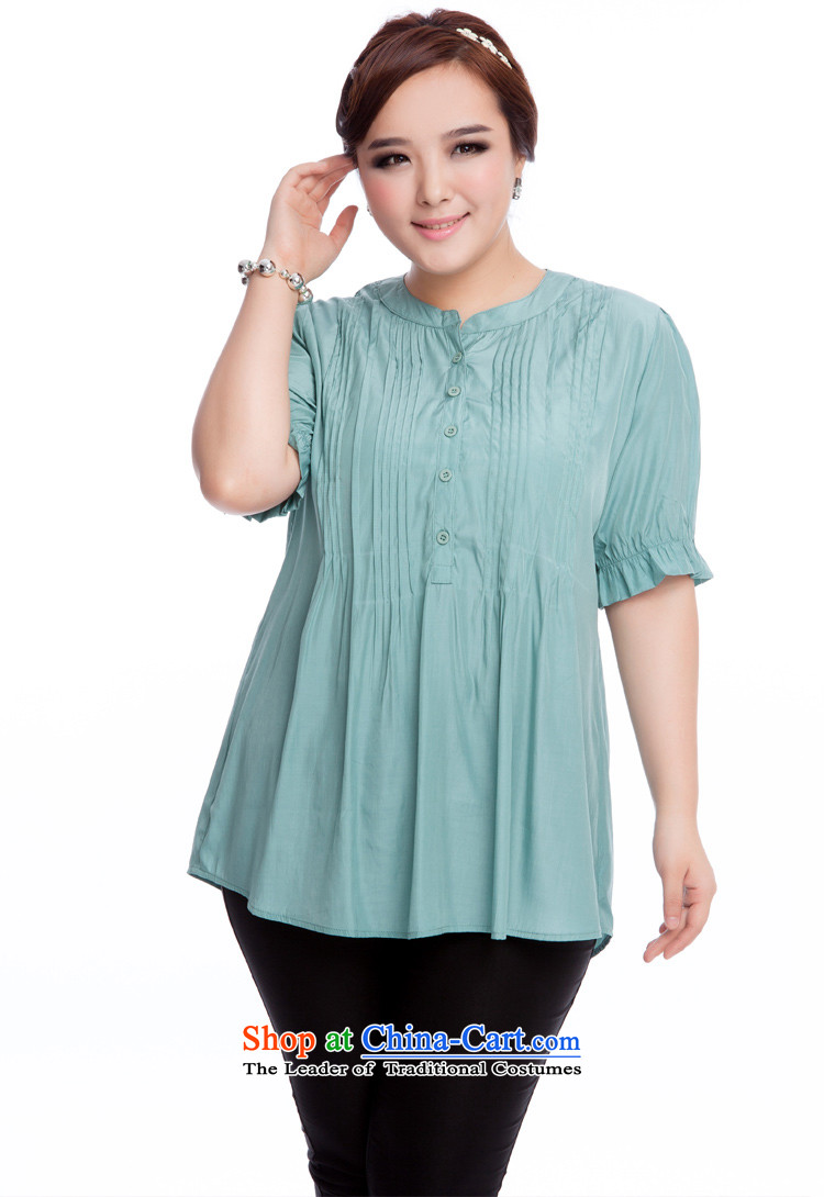 Replace, Hin thick zhuangting ting thin 2015 Summer new product version of large Korean code is smart casual dress short-sleeved T-shirt with round collar shirt 319 light green L picture, prices, brand platters! The elections are supplied in the national character of distribution, so action, buy now enjoy more preferential! As soon as possible.
