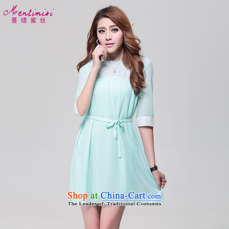 Overgrown Tomb economy honey population to increase women's code thick mm in summer and autumn 2014 new boxed bow ties in the sister cuff thick snow woven dresses video thin thin�23爈ight green large XXL