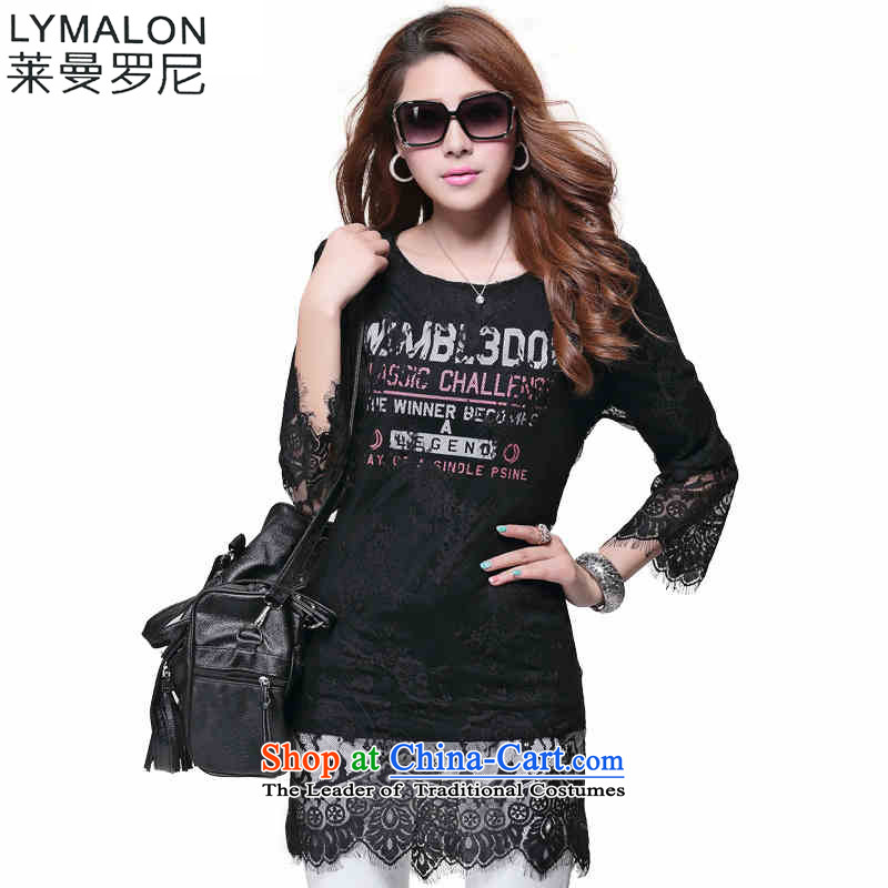 The lymalon lehmann autumn 2015 new product expertise, Hin thin Korean version of large numbers of 7 modern women's sleeveless T-shirt La Barcaccia black�L