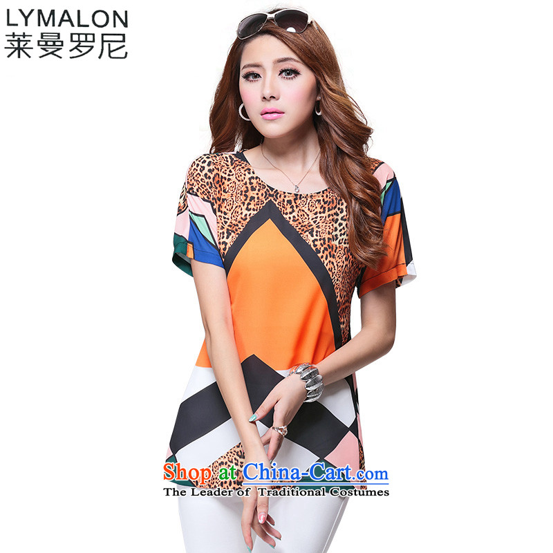 The lymalon Lehmann Summer 2015 new product expertise, Hin thin Korean version of large numbers of ladies short-sleeved T-shirt chiffon shirt color photo 1635燲L