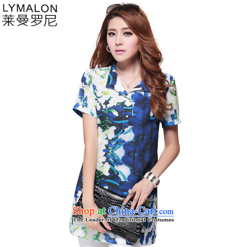 The lymalon Lehmann Summer 2015 new product expertise, Hin thin Korean version of large numbers of ladies fashion short-sleeved shirt shirt 1,639 suit�L