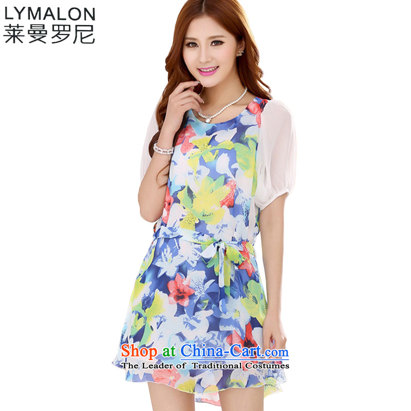 The lymalon Lehmann Summer 2015 new product expertise, Hin thin large stylish women short-sleeved chiffon 7039 skirt suits�L