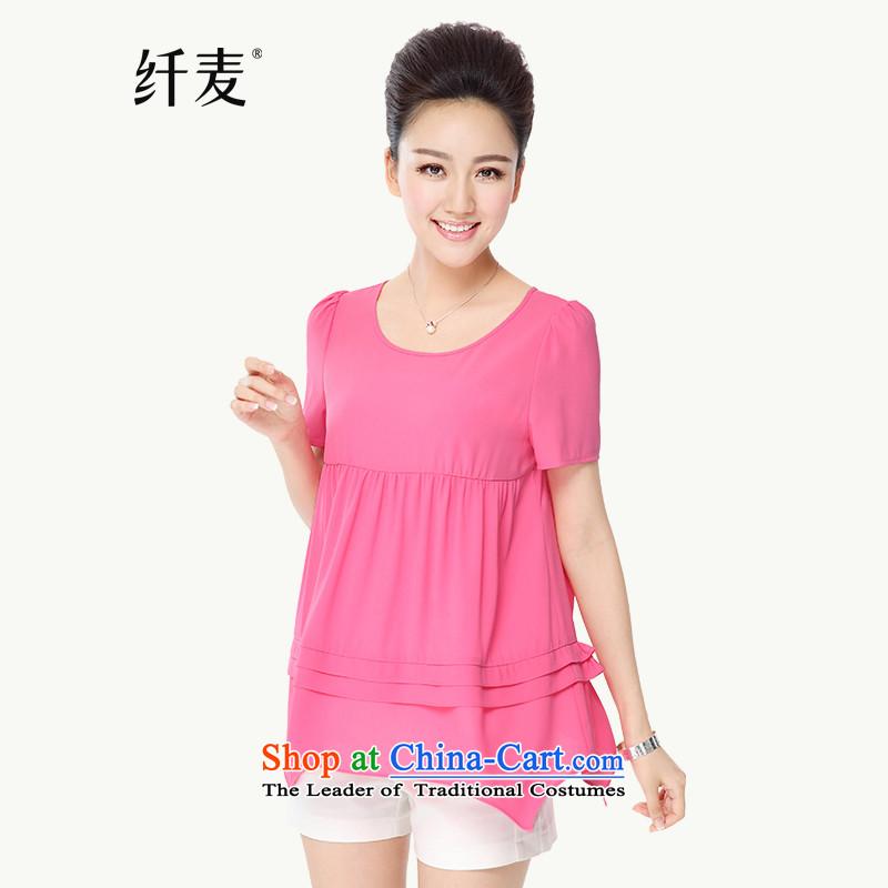 The former Yugoslavia Migdal Code women 2015 Summer new stylish mm thick snow swinging under irregular woven lovely�337 T-shirts爄n red燲L