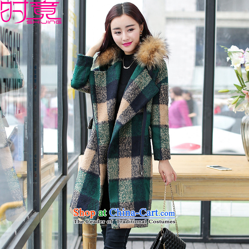 Even  2015 Korean winter clothing new plaid zip need long small incense in wind W8981 coats no gross? gross for M