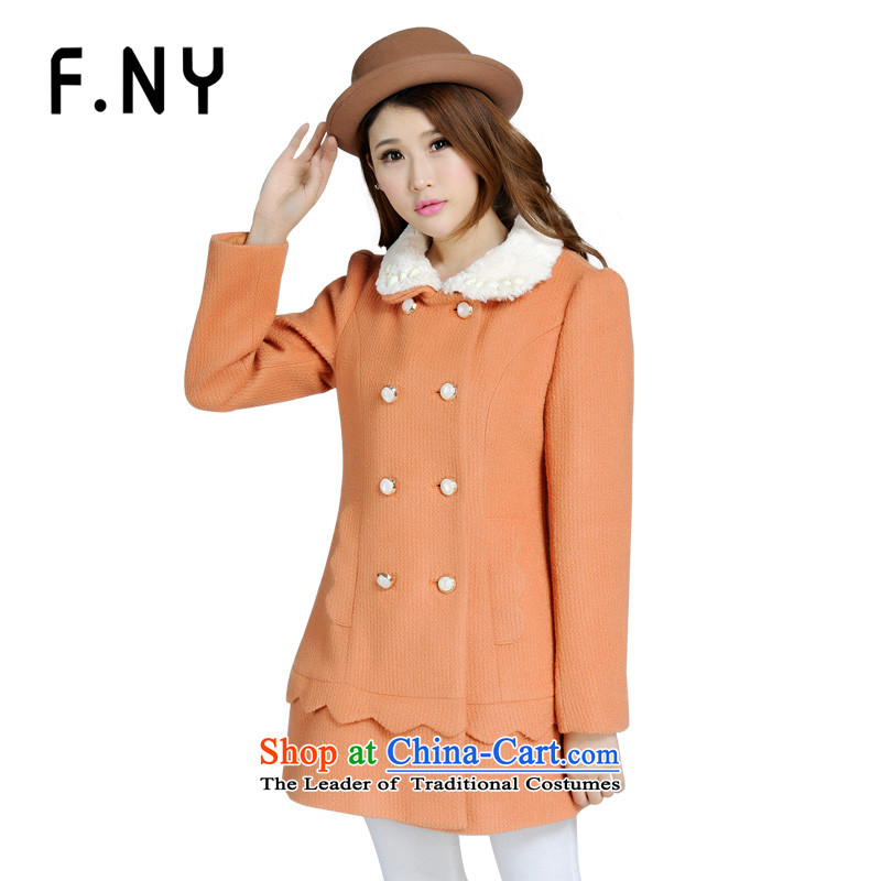 Connie counters law F.NY genuine winter clothing new gross girls jacket? Long woolen coat Korean 1341762 BISQUE聽165_84A_38_M