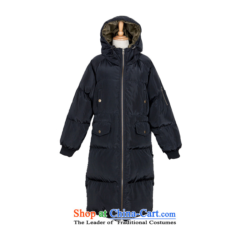 Brady Pugo 2015 winter clothing new Korean version of large code ladies casual ãþòâ too long, cotton coat loose coat green riboud /1188 2XL 150 - 160131 around 922.747, Brady pugo shopping on the Internet has been pressed.