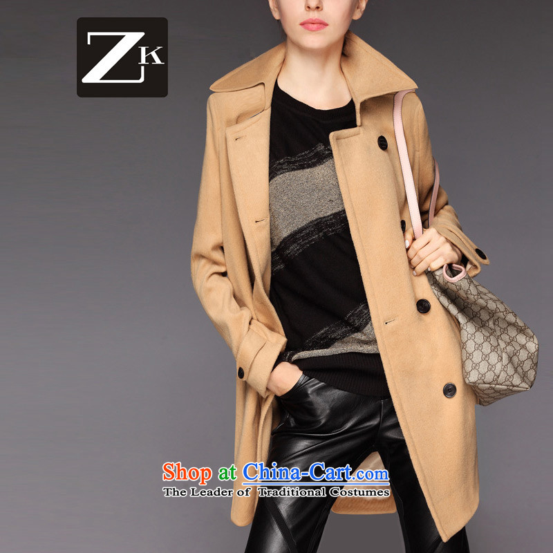 Zk Western women 2015 autumn and winter new gross? coats that long hair and color jacket??L
