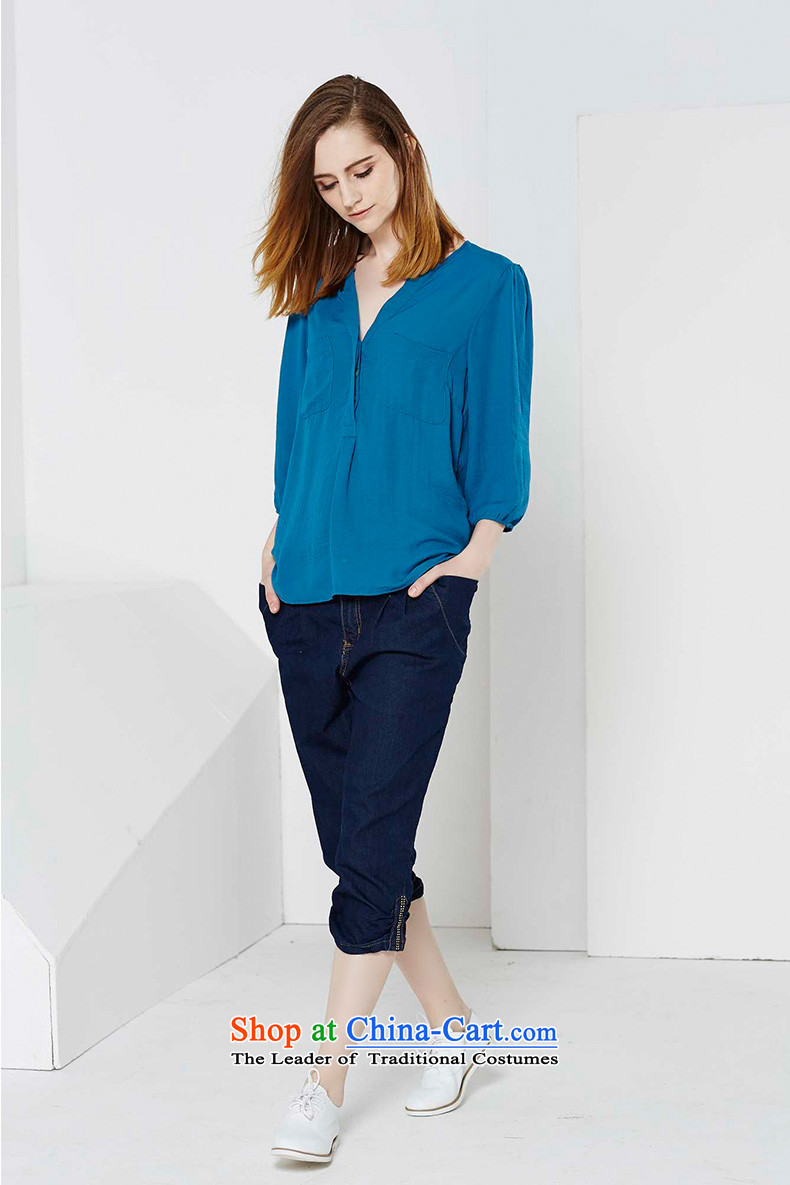 Crescent set larger female Capri jeans 2015 Spring/Summer High-lumbar female large mm thick Capri and deep blue 34 pictures, prices, brand platters! The elections are supplied in the national character of distribution, so action, buy now enjoy more preferential! As soon as possible.