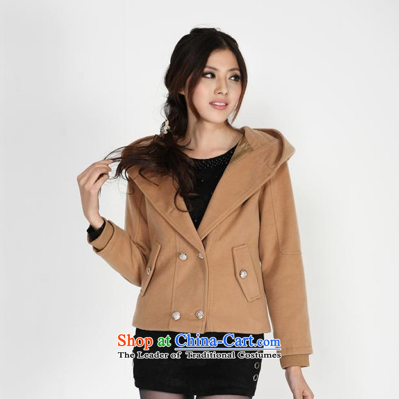 The autumn and winter large load women thick mm autumn and winter coats leisure, double-cap and color燲XXL Jacket
