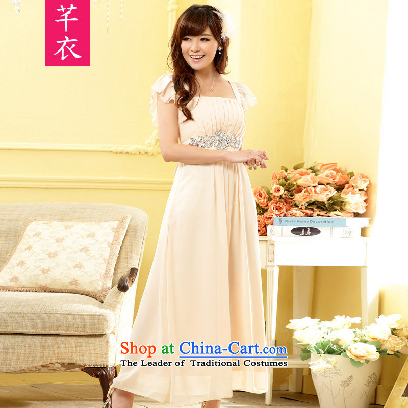 Xl Kumabito Women聽2015 new thick sister custom fine diamond link Foutune of black rotator cuff noble long version of the dress suits skirts champagne to large XL 120-140 catty