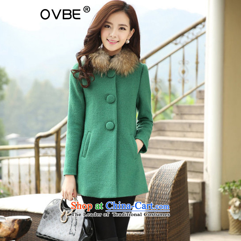 The 2014 Korean OVBE winter clothing new gross for Sau San fashion, long long-sleeved jacket coat? female gross crouched聽L