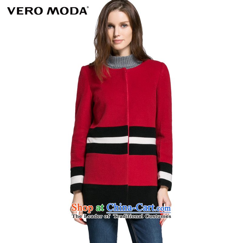 Vero moda wool streaks knocked color minimalist straight in the body of long-sleeved jacket |314327003 female gross? 073�5_84A_M Crimson Red