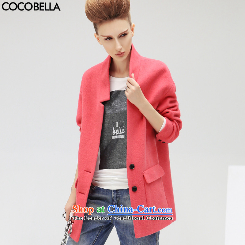 The new winter 2015 COCOBELLA western style ribs in transition relaxd minimalist female jacket CT181 Sau San raspberries RED燤