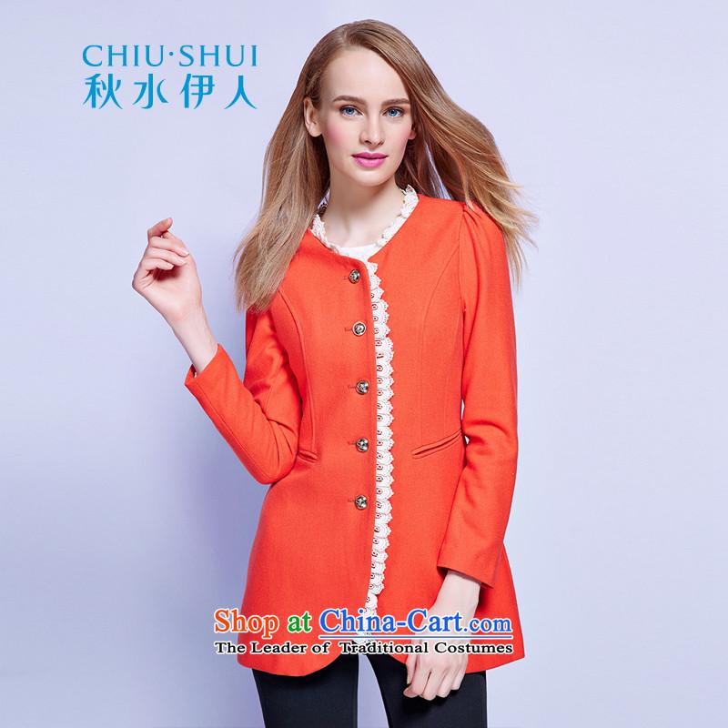 Chaplain who new lace Decorative solid color jacket�3F3071001 gross Sau San?牋165_L Orange Red