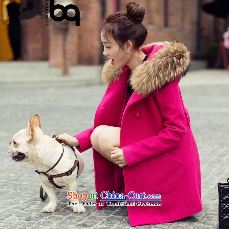 The thousands of 2015 Fall_Winter Collections new coats of ladies hair? Korean girl in loose coat long thin wool a wool coat forever good gross for the REDM
